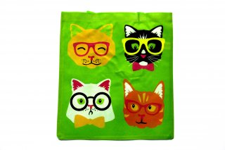 Silly Faces Cat Tote Bags