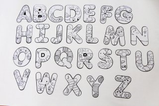 Color Your Own Alphabet Letters