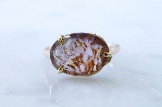 Moss ring カコクセナイトインアメシスト