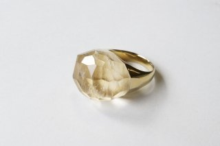 Quartz  Rock Ring (Faceted Round Cut)