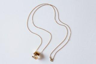 Rutile Quartz Rock Necklace M size