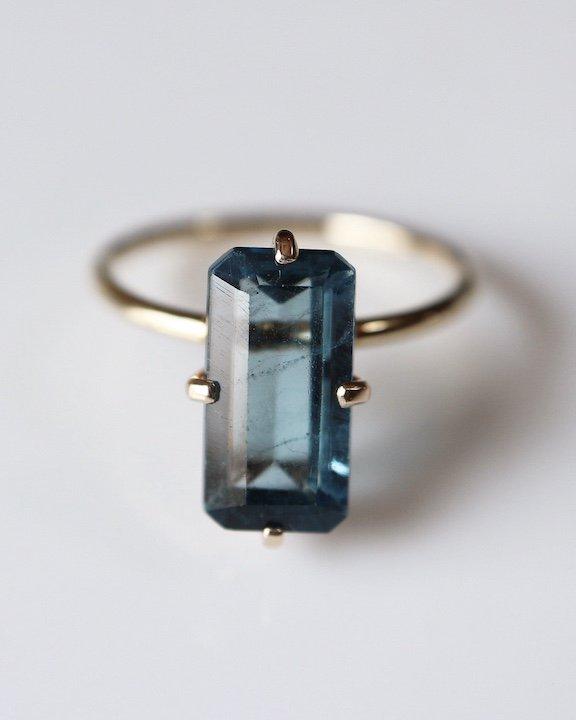 Smart Ring(London Blue Topaz)
