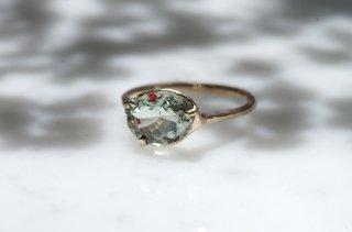 Moss ring ヘマタイトインオリゴクレース