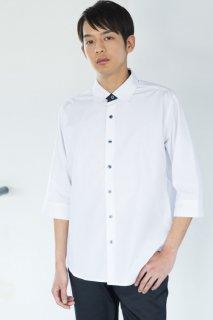257メンズシャツ 台衿配色