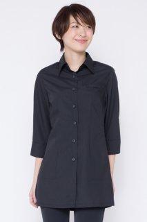 488ロングシャツ サイドスリット レディース