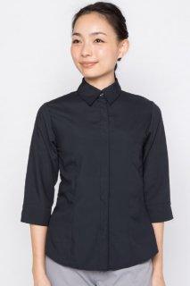スレンダーシャツ 七分袖 レディース