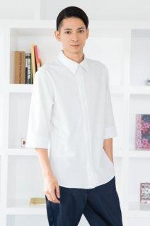ジッパーシャツ七分袖 CANAPA