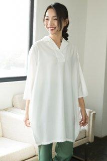 シャツワンピース 裾バルーン