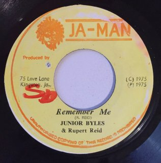 JUNIOR BYLES - REMEMBER ME<img class='new_mark_img2' src='https://img.shop-pro.jp/img/new/icons25.gif' style='border:none;display:inline;margin:0px;padding:0px;width:auto;' />