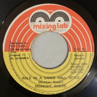 MIDNIGHT RIDERS - RULE IN A DANCE HALL STYLE