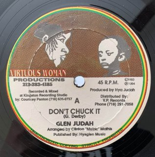 GLEN JUDAH - DON'T CHUCK IT