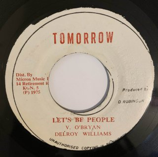 DELROY WILLIAMS - LET'S BE PEOPLE