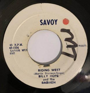 BILLY HOPE - RIDING WEST