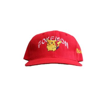 POKEMON  WOOL20% ACRYLIC80% キャップ  カンボディア製 / ONE SIZE FITS ALL 赤
