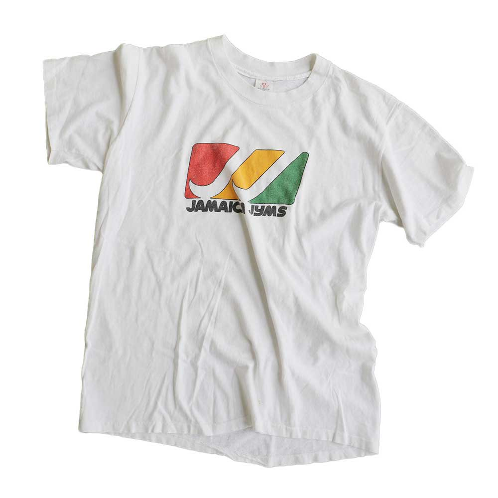 w-means(ダブルミーンズ) JAMAICA JYMS  半袖Tシャツ 100%コットン アメリカ製  表記L しろ 詳細画像5