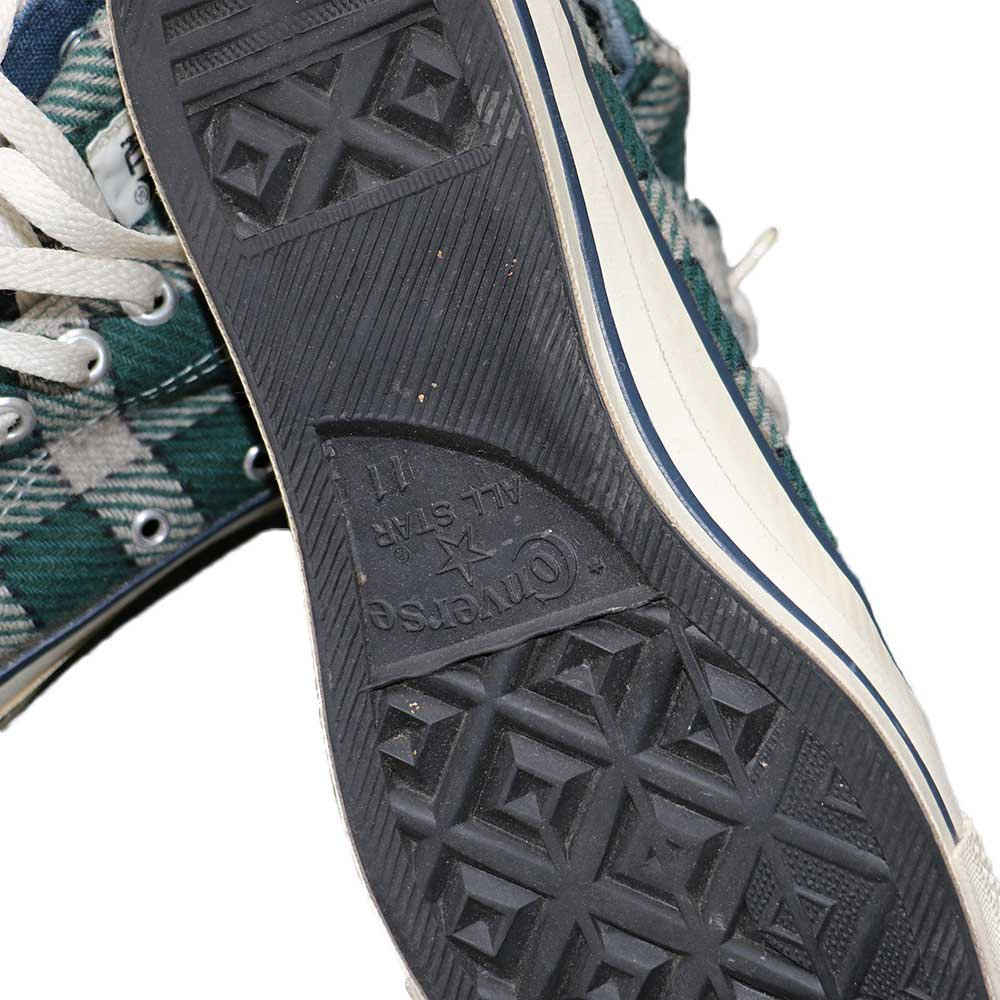 w-means(ダブルミーンズ) CONVERSE ALL STAR LOW(アメリカ製)表記11 ブロックチェック 詳細画像3