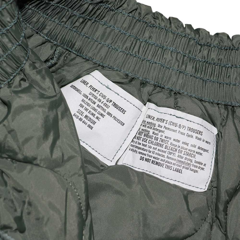 w-means(ダブルミーンズ) U.S ARMY CWU-9/P TROUSERS(デットストック)表記M アーミーグリーン 詳細画像9