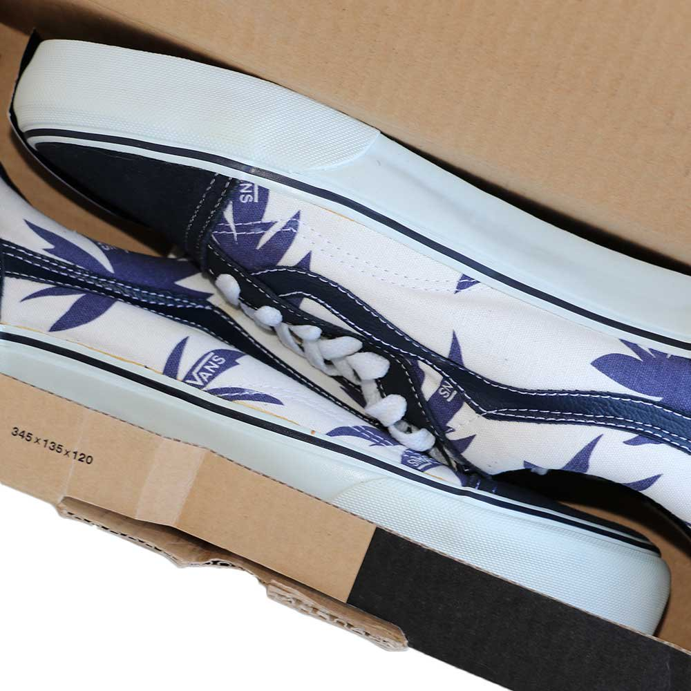 w-means(ダブルミーンズ) VANS Old Skool(Vulcanized)表記10.5 Navy/Wht w/Nvy Palm Leaf J80 詳細画像2