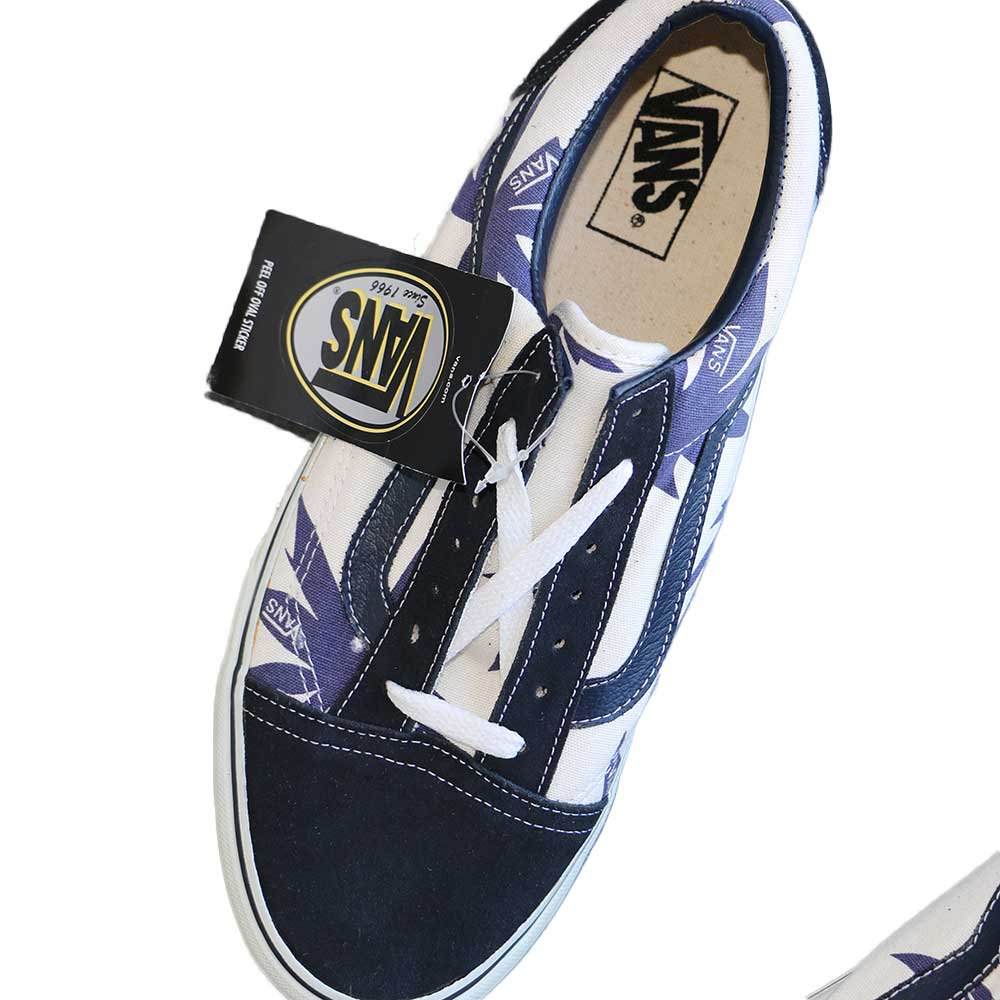 w-means(ダブルミーンズ) VANS Old Skool(Vulcanized)表記10.5 Navy/Wht w/Nvy Palm Leaf J80 詳細画像4