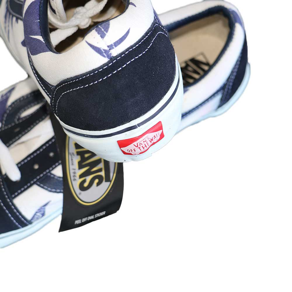 w-means(ダブルミーンズ) VANS Old Skool(Vulcanized)表記10.5 Navy/Wht w/Nvy Palm Leaf J80 詳細画像5
