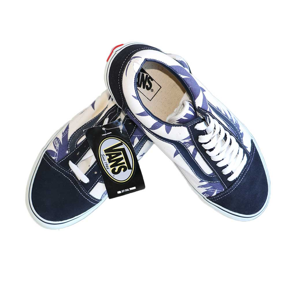 w-means(ダブルミーンズ) VANS Old Skool(Vulcanized)表記10.5 Navy/Wht w/Nvy Palm Leaf J80 詳細画像7