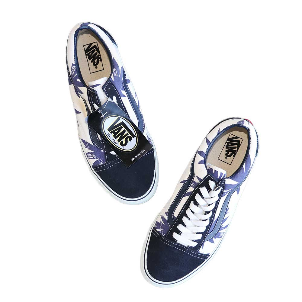 w-means(ダブルミーンズ) VANS Old Skool(Vulcanized)表記10.5 Navy/Wht w/Nvy Palm Leaf J80 詳細画像8