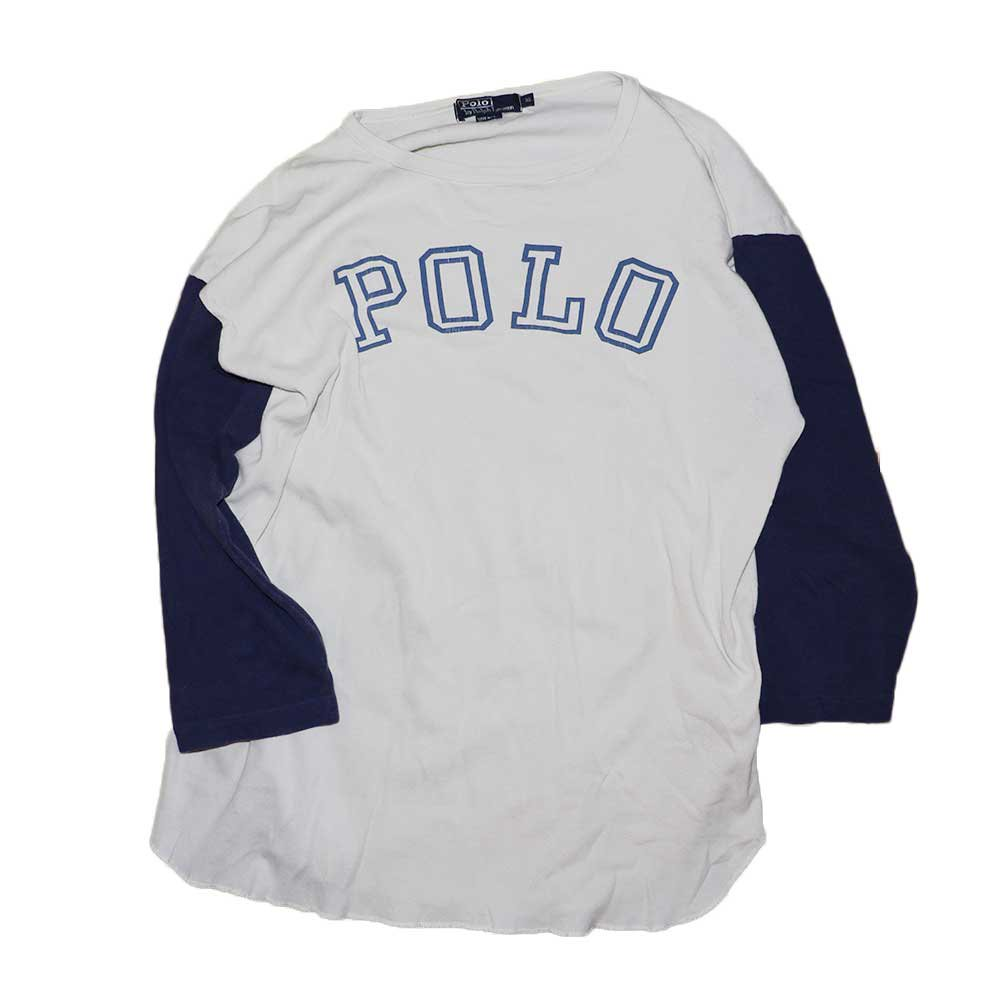w-means(ダブルミーンズ) POLO RALPH LAUREN セットイン(アメリカ製)表記xL 2TONE 詳細画像