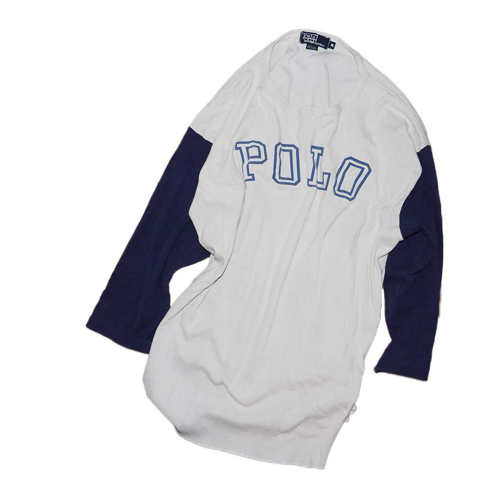 w-means(ダブルミーンズ) POLO RALPH LAUREN セットイン(アメリカ製)表記xL 2TONE 詳細画像2
