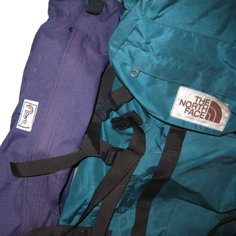 w-means(ダブルミーンズ) THE NORTH FACE + Lowe ALPINE SYSTEMS バックパック(アメリカ製) 表記xL  緑×紫   詳細画像3