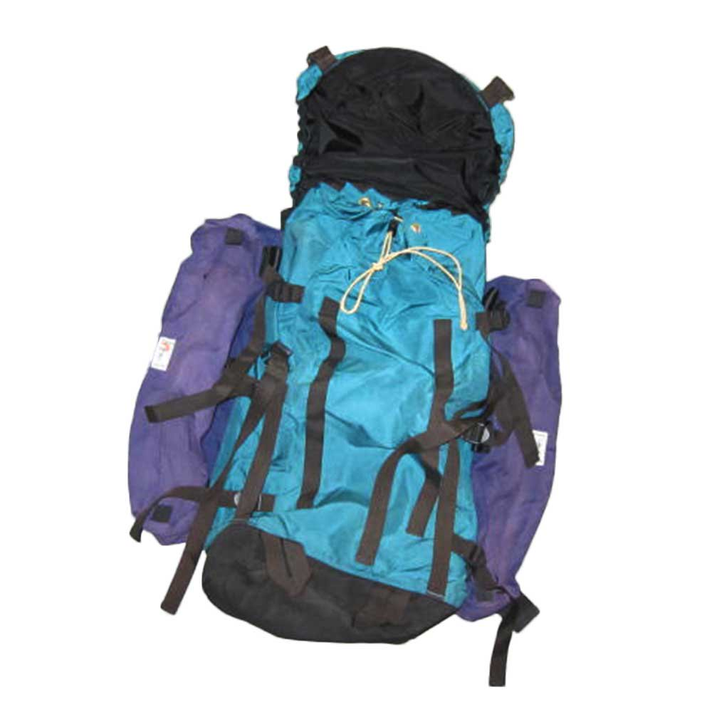 w-means(ダブルミーンズ) THE NORTH FACE + Lowe ALPINE SYSTEMS バックパック(アメリカ製) 表記xL  緑×紫   詳細画像7