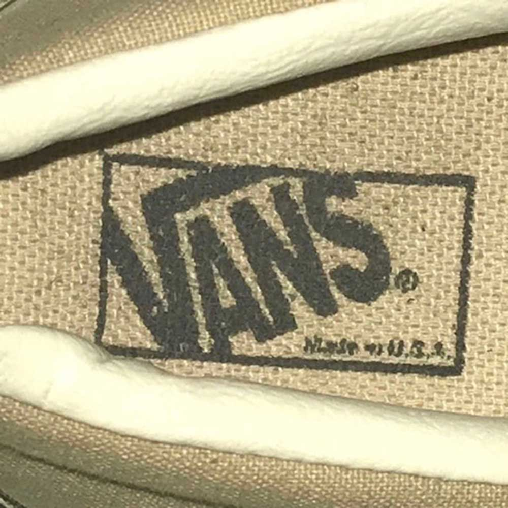 w-means(ダブルミーンズ) 90's VANS ERA(made in U.S.A.)表記14 ベージュ×ホワイト 詳細画像2
