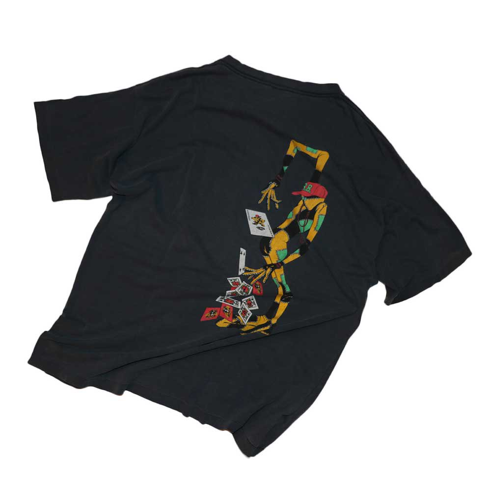 w-means(ダブルミーンズ) Powell Peralta  Ray Barbee 100%コットン半袖Tシャツ(made in U.S.A.)表記xL  炭黒 詳細画像4