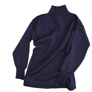 LANDS' END 100% WOOL KNIT SWEATER 表記M 濃紺