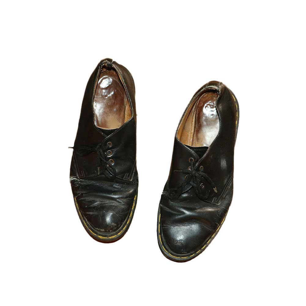 w-means(ダブルミーンズ) DR.MARTENS 3ホール レザーシューズ(Made in ENGLAND)表記9 黒 詳細画像2