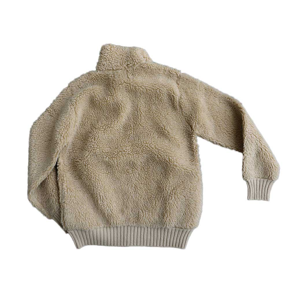 w-means(ダブルミーンズ) Winona Knits フリースジャケット(Made in Minnesota)表記L 生成色 詳細画像5