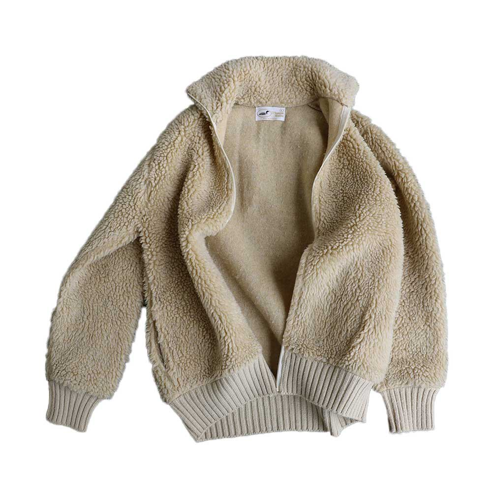 w-means(ダブルミーンズ) Winona Knits フリースジャケット(Made in Minnesota)表記L 生成色 詳細画像7
