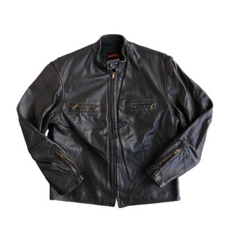TAUBER leather jacket 表記44  Black