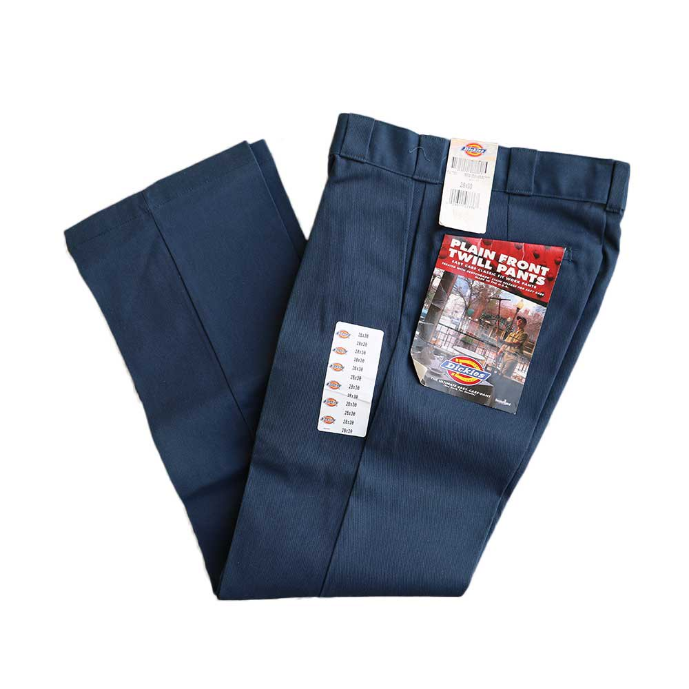 w-means(ダブルミーンズ) Dickies twill work pants (made in U.S.A.)表記w28×30 Navy 詳細画像1