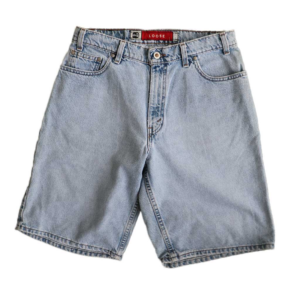 w-means(ダブルミーンズ) Levis silvertab LOOSE デニムショーツ(made in U.S.A.)表記 w32  ライトインディゴ 詳細画像