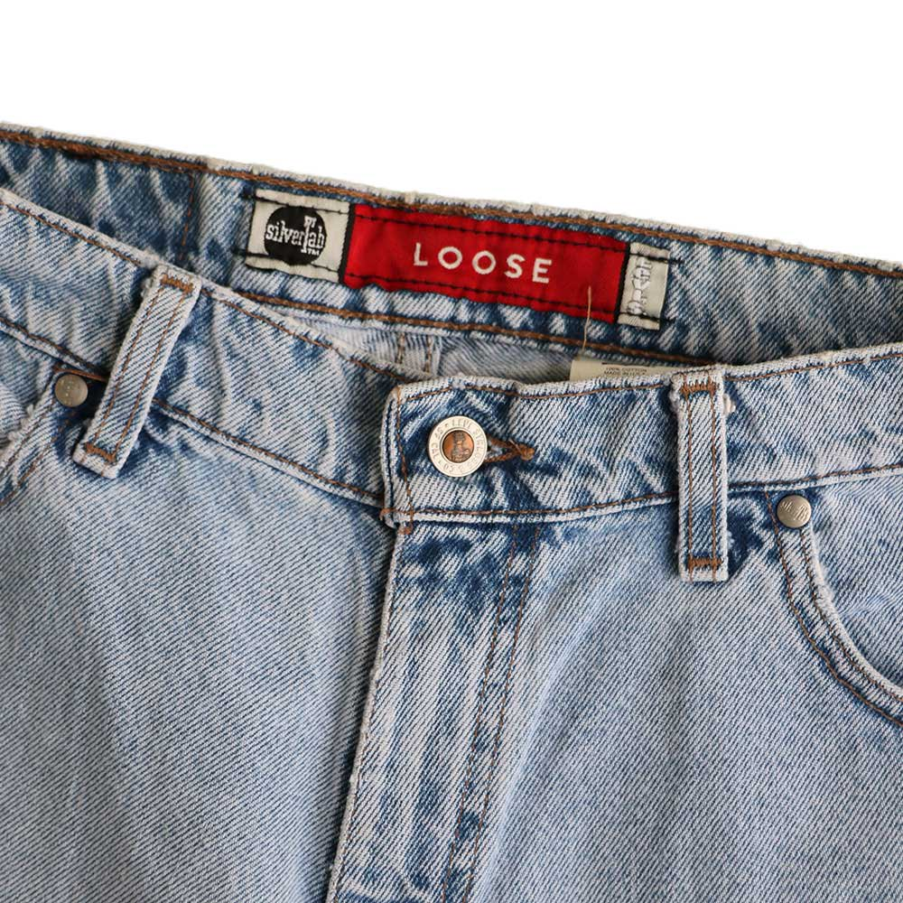 w-means(ダブルミーンズ) Levis silvertab LOOSE デニムショーツ(made in U.S.A.)表記 w32  ライトインディゴ 詳細画像1