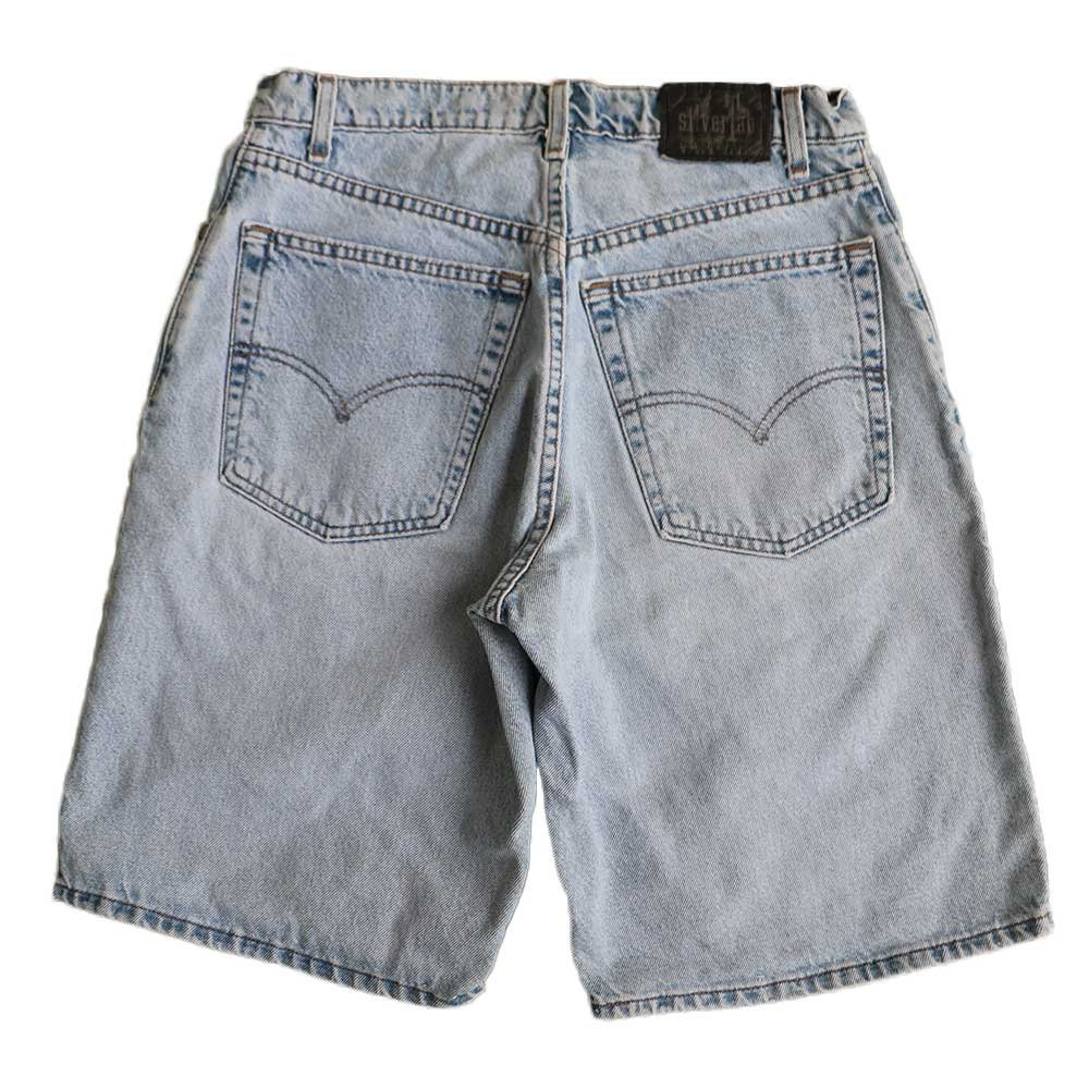 w-means(ダブルミーンズ) Levis silvertab LOOSE デニムショーツ(made in U.S.A.)表記 w32  ライトインディゴ 詳細画像2