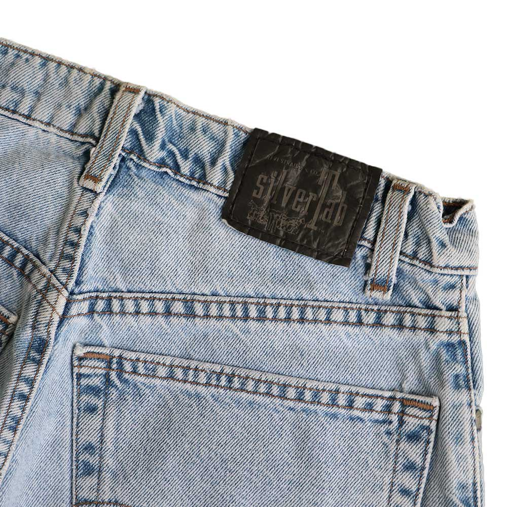 w-means(ダブルミーンズ) Levis silvertab LOOSE デニムショーツ(made in U.S.A.)表記 w32  ライトインディゴ 詳細画像3