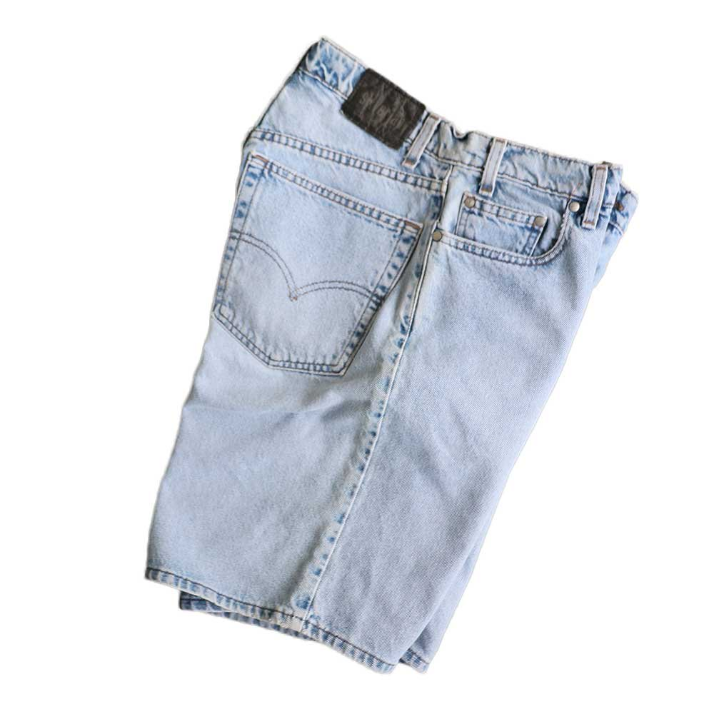 w-means(ダブルミーンズ) Levis silvertab LOOSE デニムショーツ(made in U.S.A.)表記 w32  ライトインディゴ 詳細画像4