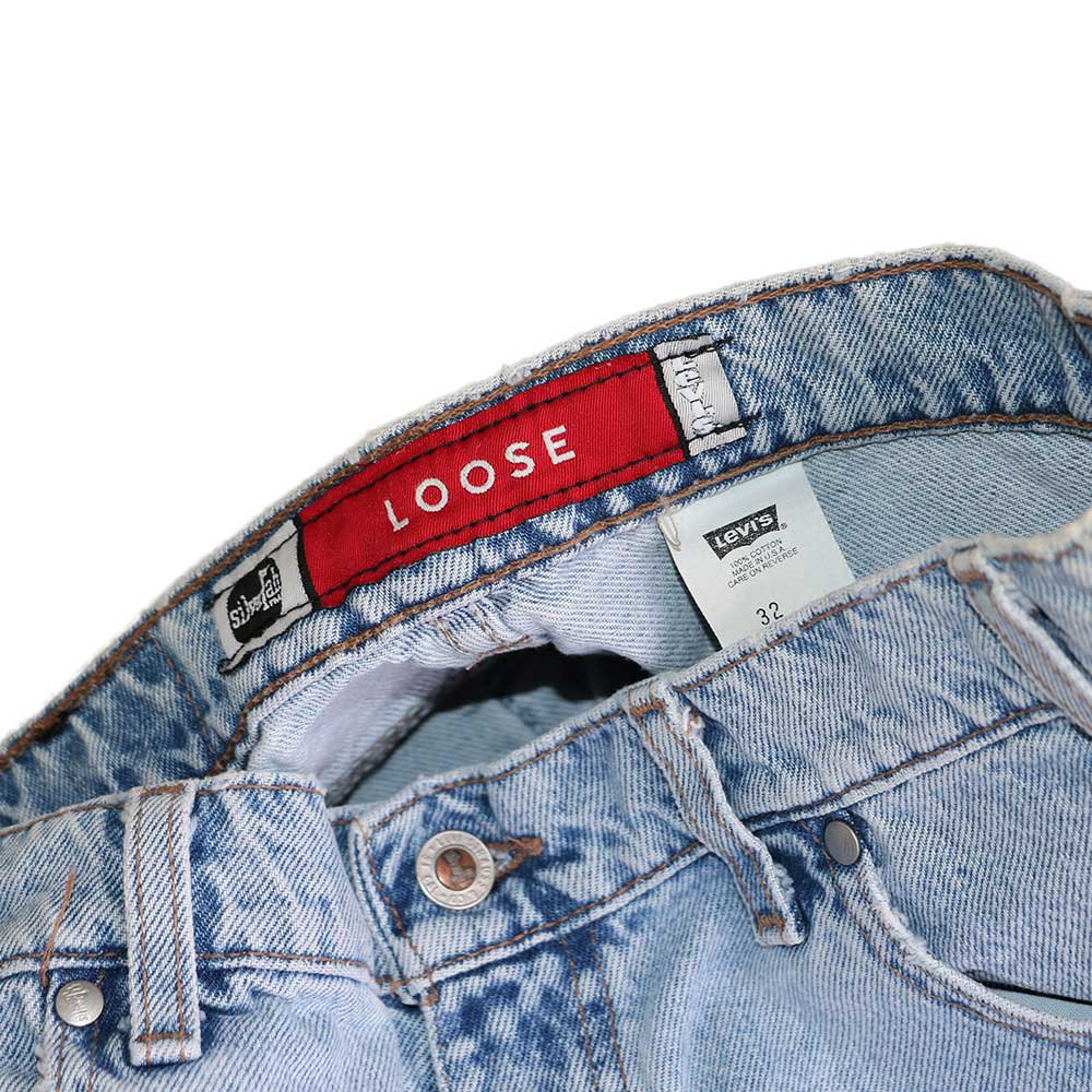 w-means(ダブルミーンズ) Levis silvertab LOOSE デニムショーツ(made in U.S.A.)表記 w32  ライトインディゴ 詳細画像5