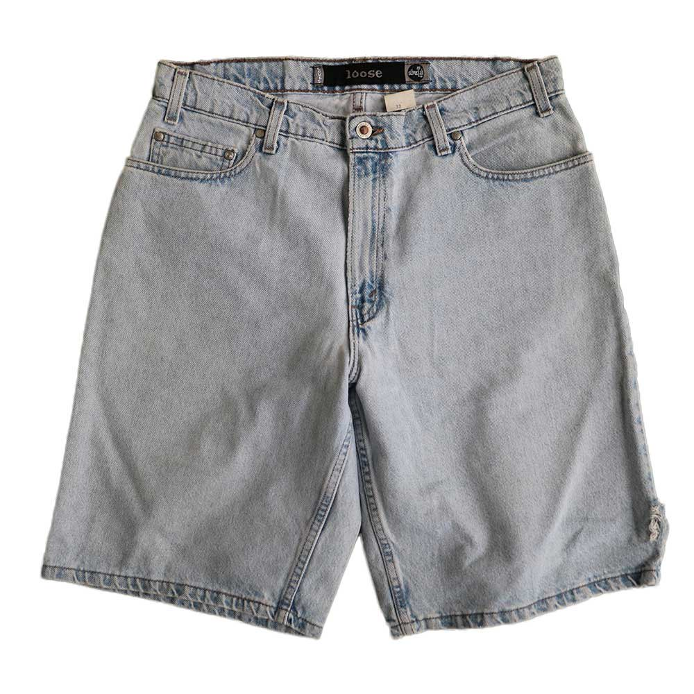 w-means(ダブルミーンズ) Levis silvertab LOOSE デニムショーツ(made in U.S.A.)表記 w33  ライトインディゴ 詳細画像