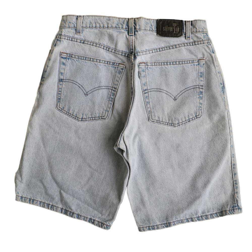 w-means(ダブルミーンズ) Levis silvertab LOOSE デニムショーツ(made in U.S.A.)表記 w33  ライトインディゴ 詳細画像1