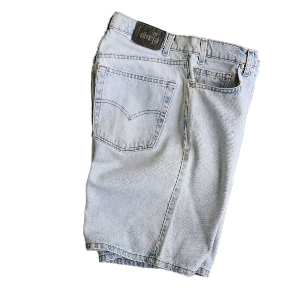 w-means(ダブルミーンズ) Levis silvertab LOOSE デニムショーツ(made in U.S.A.)表記 w33  ライトインディゴ 詳細画像4