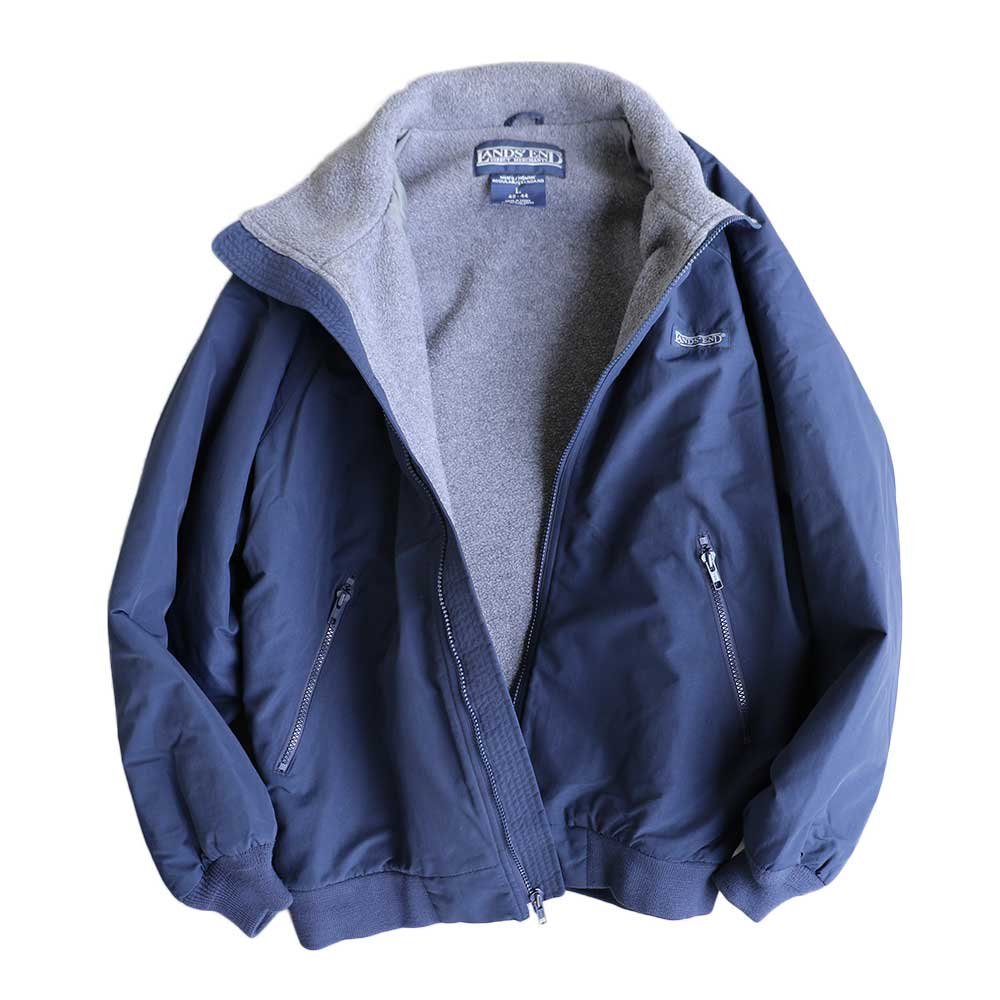 w-means(ダブルミーンズ) LAND'S END WARM-UP JACKET 表記L  NAVY×C.GRAY 詳細画像5