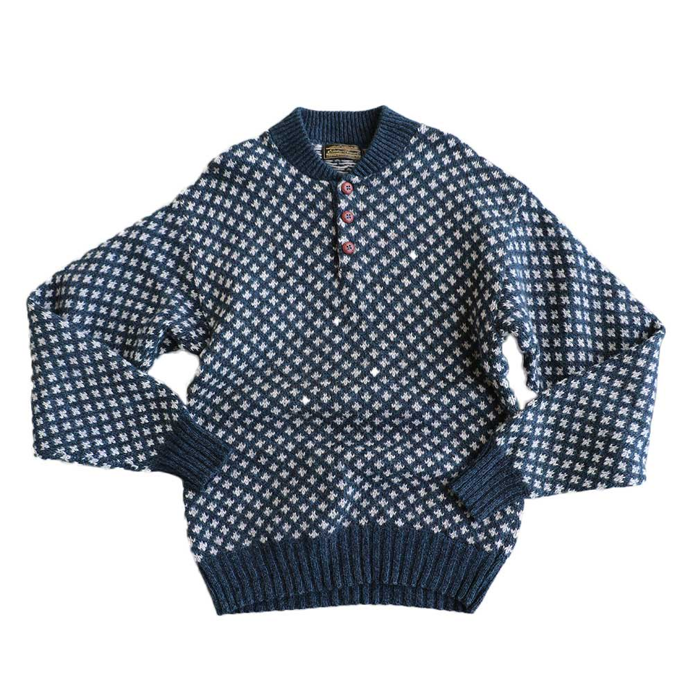 w-means(ダブルミーンズ) Eddie Bauer  WOOL KNIT SWEATER(made in U.S.A.)表記M ソウ柄 詳細画像1