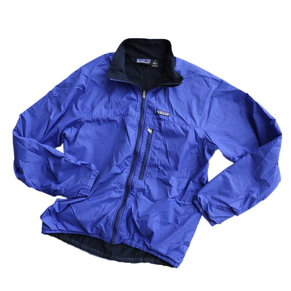 w-means(ダブルミーンズ) Patagonia nylon jacket(MADE IN FABRIQUE A U.S.A)表記M BLUE 詳細画像